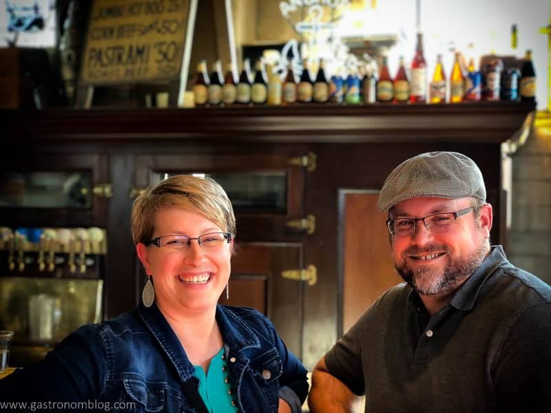 Jay and Leah at the Bar at Anchor Distilling