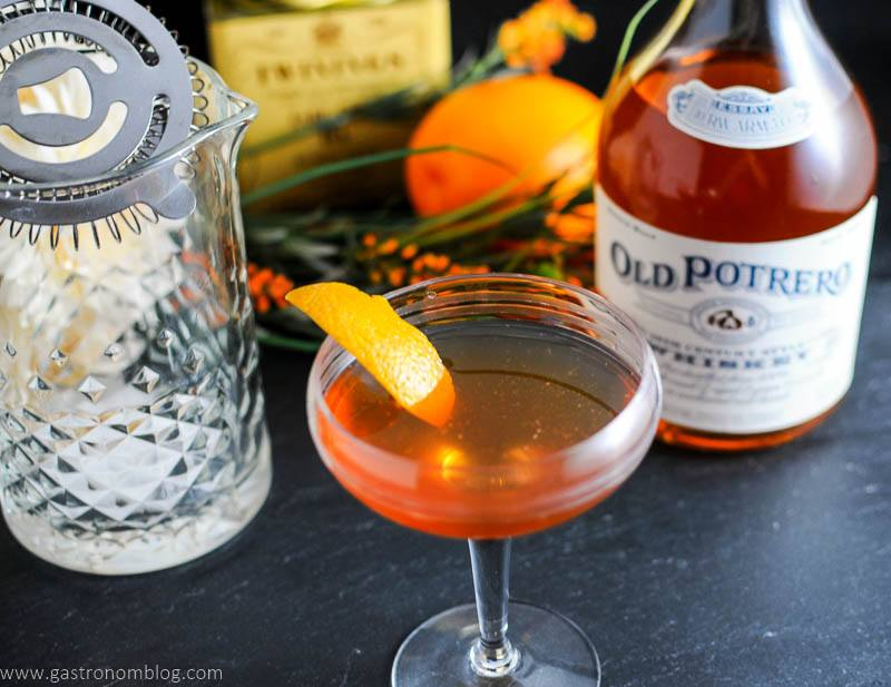 Earl Grey Manhattan With Old Potrero 18 Century Style Whiskey