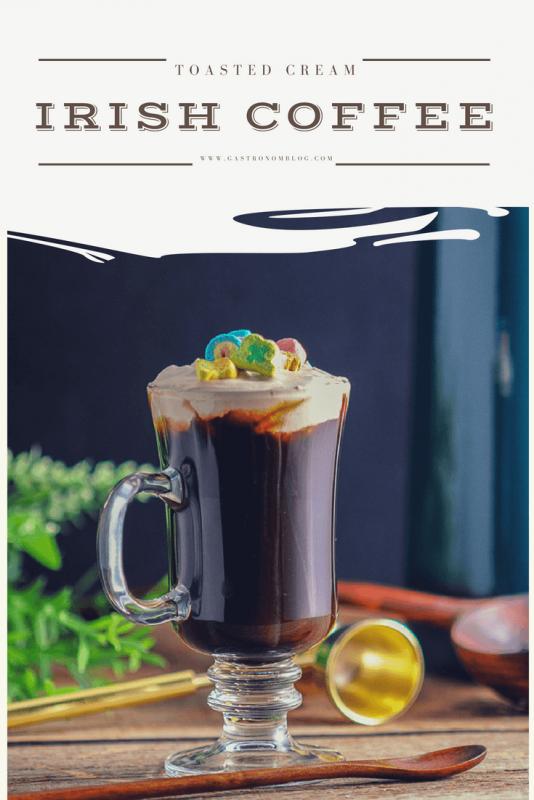 Toasted Cream Irish Coffee - perfect for St Patrick's Day, this Irish Whiskey based cocktail makes use of the instant pot to make the cream topping.