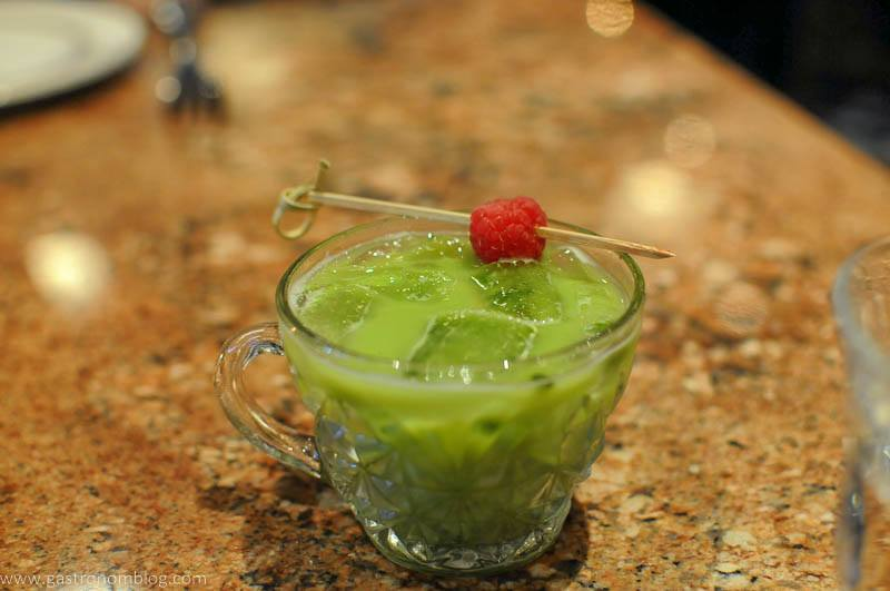 Matcha cocktail at Le Boullion in Omaha, Nebraska