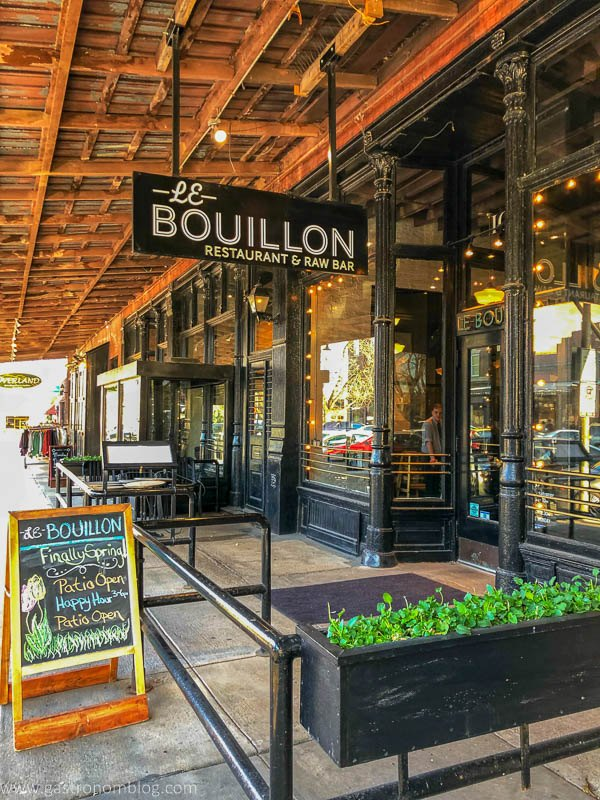 Outside patio at Le Bouillon in Omaha, Nebraska