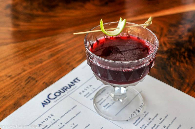 Cocktail at AuCourant in Omaha Nebraska