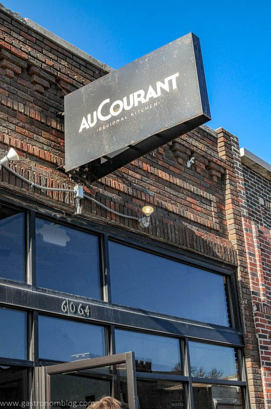 Au Courant sign in Omaha, Nebraska