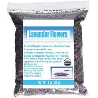 CCnatrue French Lavender Flowers USDA Organic Dried Culinary Lavender 8oz