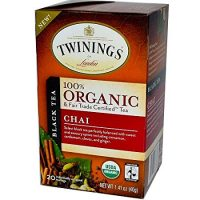 Twinings of London Organic and Fair Trade Certified Chai Tea Bags, 20 Count