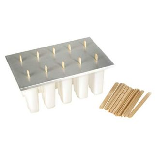 Fox Run 50302 Reusable Frozen Ice Pop Maker with 24 Popsicle Sticks