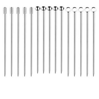 I-MART Stainless Steel Cocktail Picks Martini Picks Set (Pack of 15)