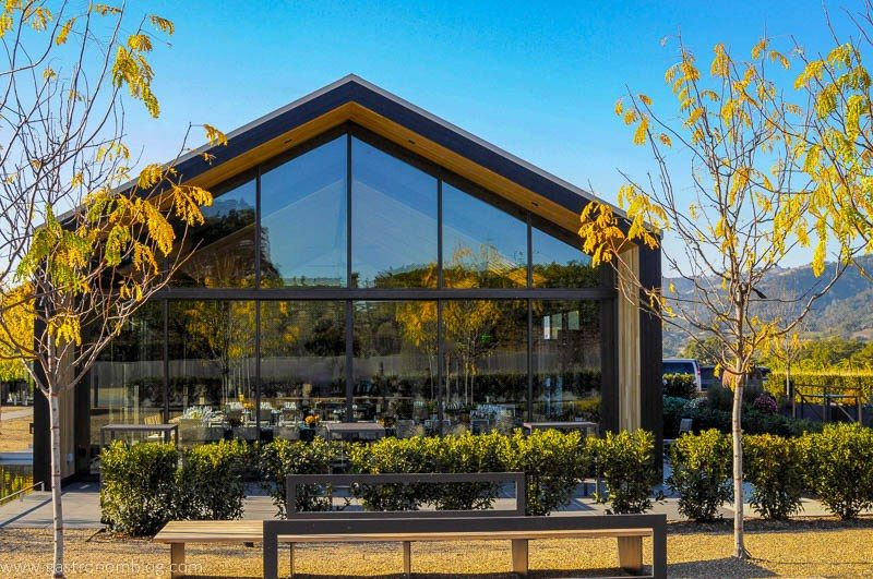The tasting room at Silver Oak Alexander Valley surrounded the beautiful scenery of Sonoma County.