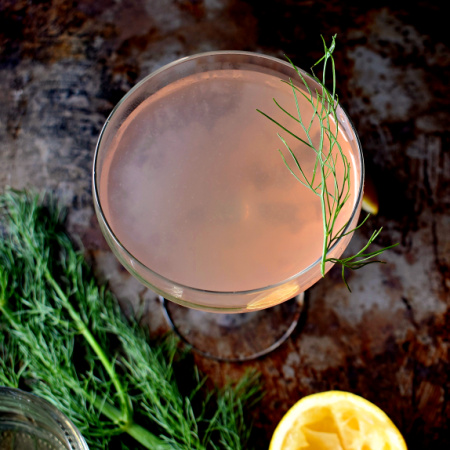 Fennel Gin Cocktail: A Variation on a Corpse Reviver #2