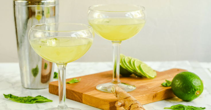 Basil Ginger Gin Gimlet : An Aphrodisiac Heavy Cocktail!