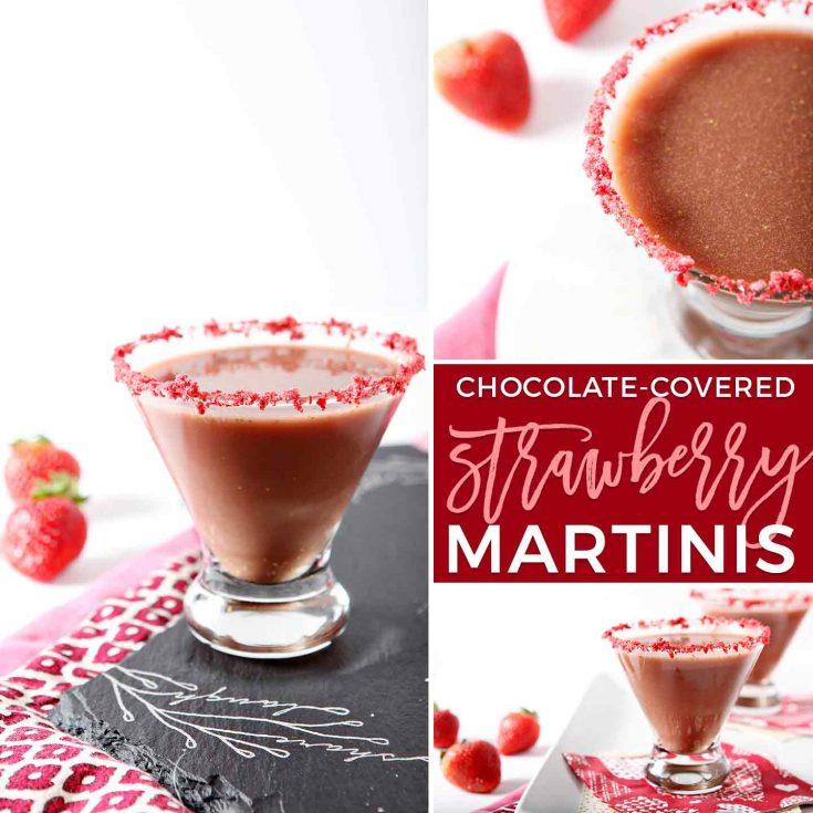 Skinny Chocolate-Covered Strawberry Martinis