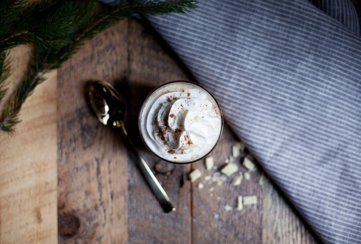 white chocolate + bourbon cocktail