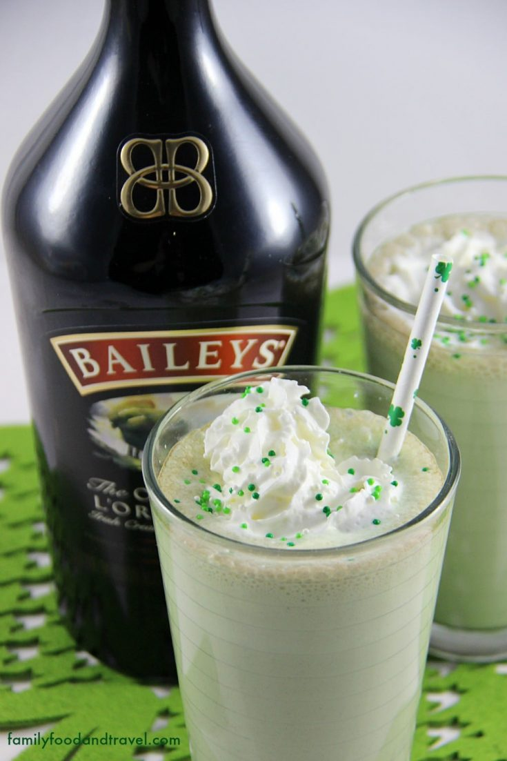 The Ultimate Mint Chocolate Chip Baileys Milkshake
