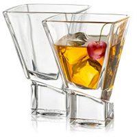 JoyJolt Carre 2-Piece Cocktail Glasses Set, 8 Ounce Martini Glasses