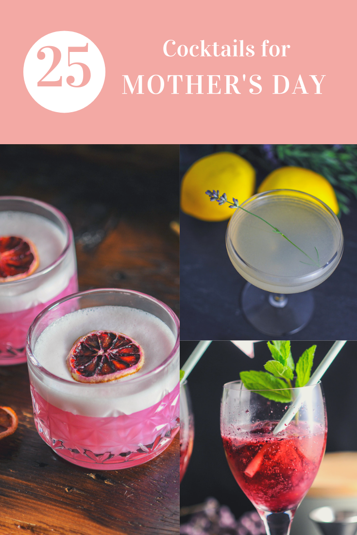 Mother's Day cocktails in a collage