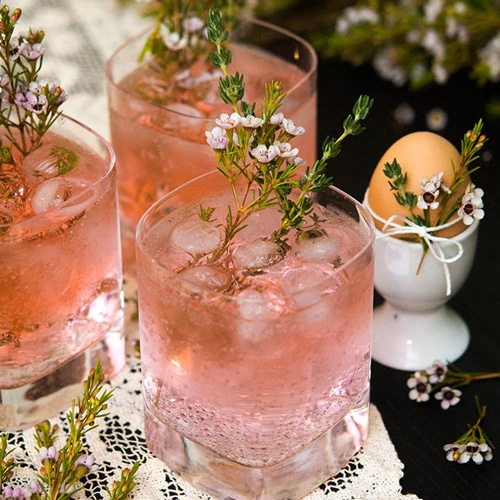 The Prettiest Pink Cocktails! Pink Gin & Tonics