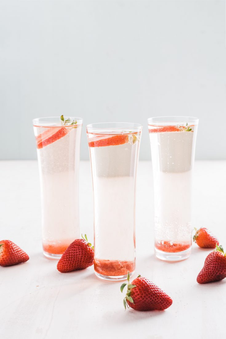 Strawberry–Rosé Champagne Cocktail