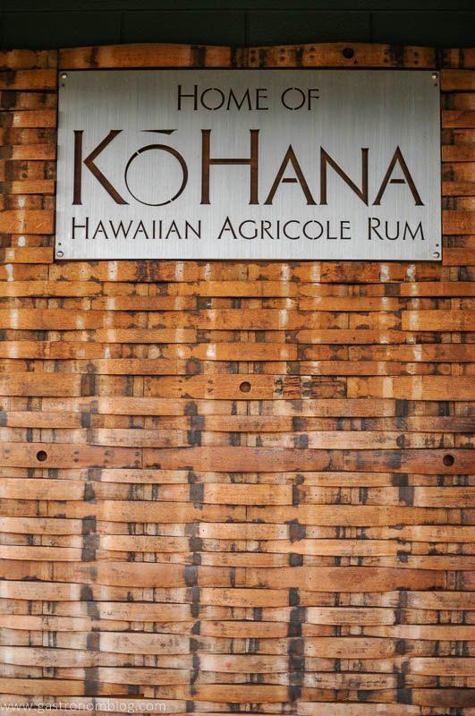 Kohana sign with barrel slats on the wall