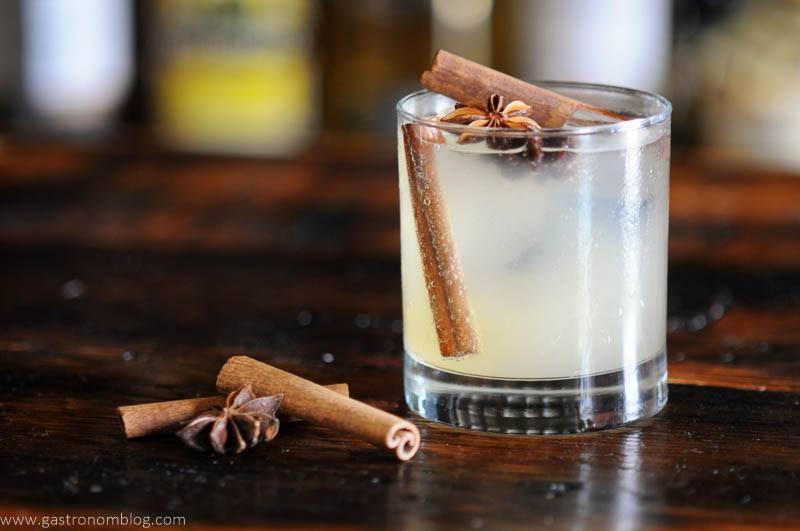 Apple cocktail in rocks glass
