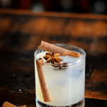 Fall gin and tonic in rocks glass with spices