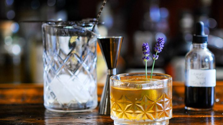 Lavender Old Fashioned Cocktail