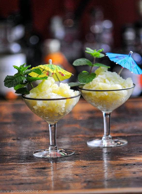 Yellow granita in coupe glass