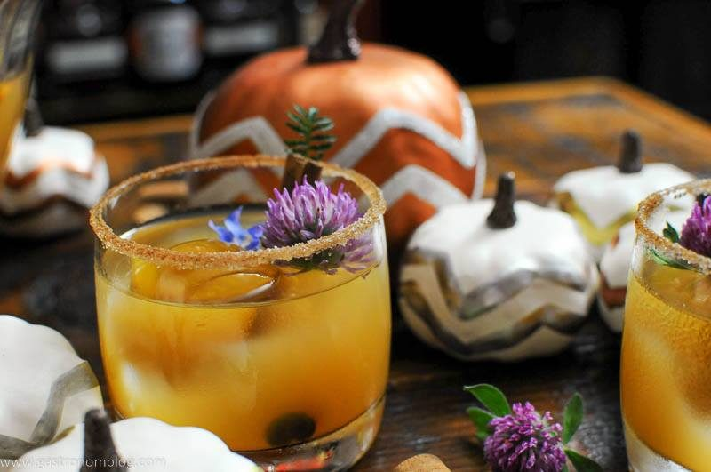Punch in cup with edible flowers