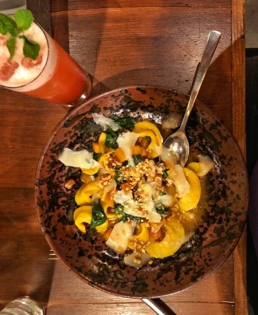Squash Pasta at Brazen Open Kitchen