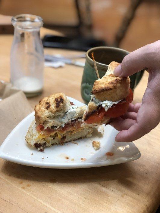 Breakfast Sandwich at Convivium in Dubuque Iowa