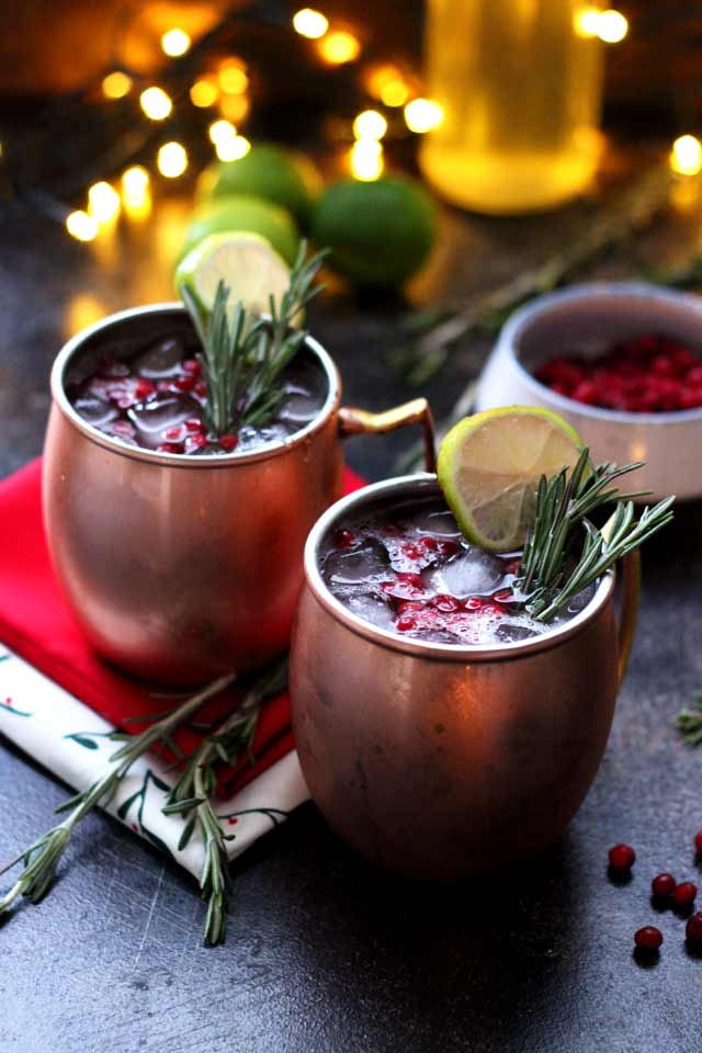 Cranberry Moscow Mule • Happy Kitchen