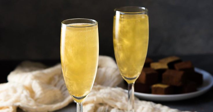 Gold Shimmery Champagne Cocktail