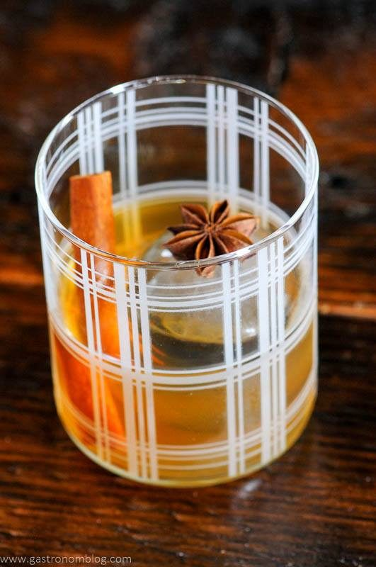 Spiced Old Fashioned in rocks glass