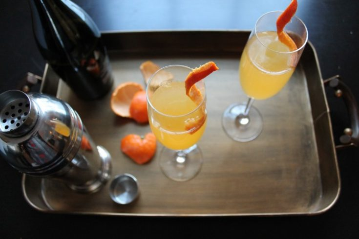 Mandarin Champagne Cocktail