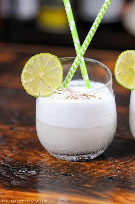Italian Cream Soda, straws and limes