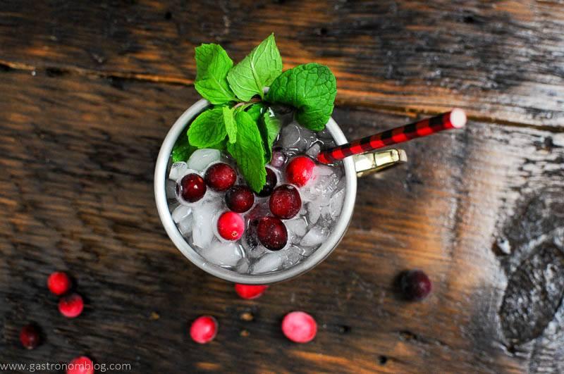 Top shot of cranberry mocktail