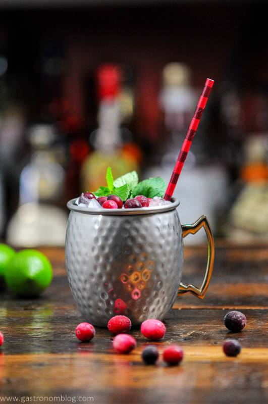 Cranberry Mocktail in silver mug