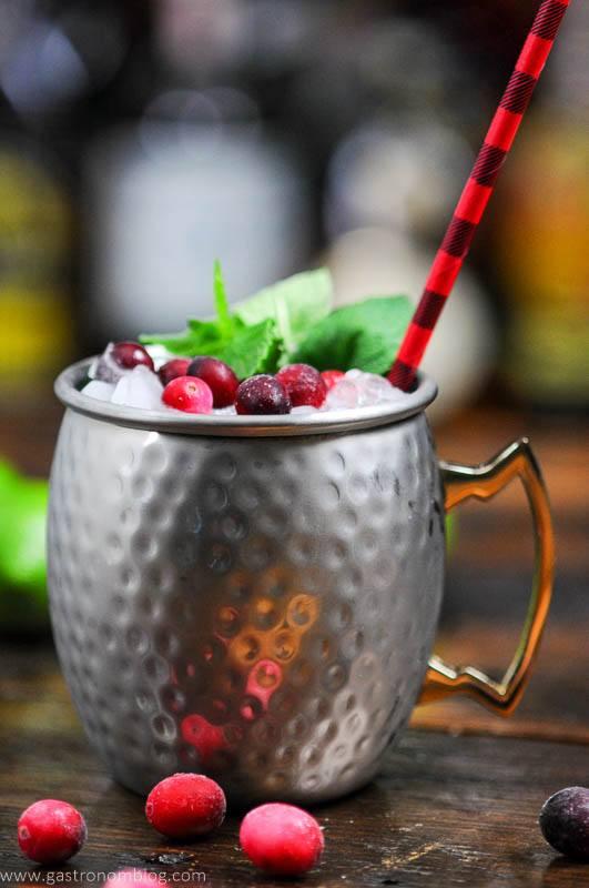 Cranberry Mule in silver mug