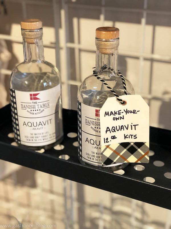 DIY Aquavit kits on shelf