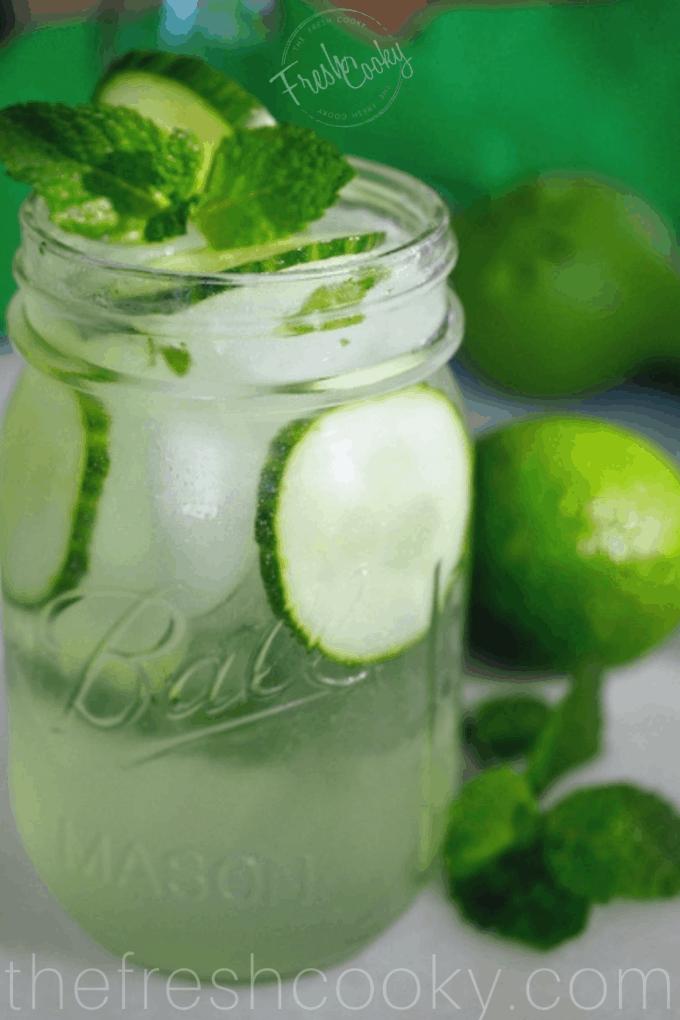 Cucumber Cooler Cocktail {Basil or Mint}
