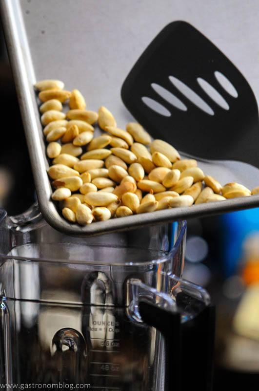 Roasted almonds on sheet pan