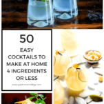 Collage of at home cocktails