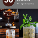 3 cocktails in a grid pattern