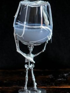 Harry Potter Cocktail gray cocktail in skeleton glass