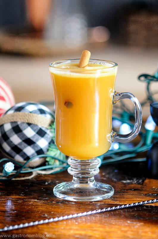 Hot Buttered Bourbon with cinnamon stick