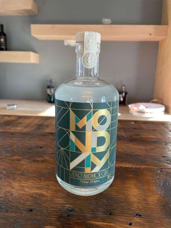 Bottle of Monday Zero Proof Gin