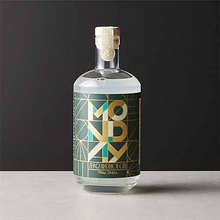 Bottle with art deco printing