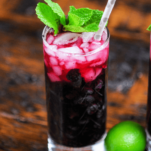 Blueberry Non Alcoholic Mojito