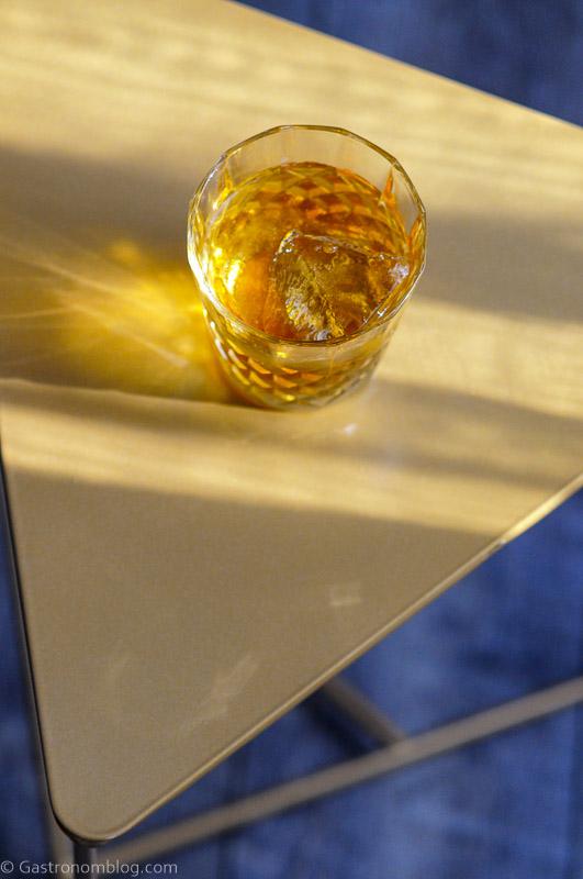 Top shot of Irish whisky cocktail