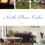 Pictures from North Shore, Hawaii, houses and food