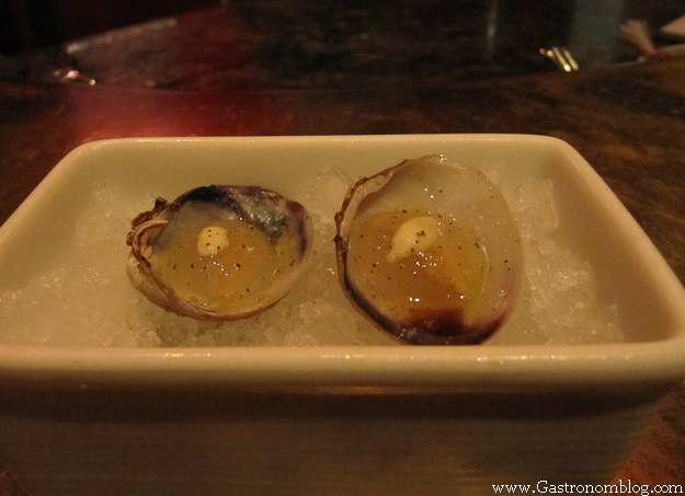 oysters on half shell in white bowl